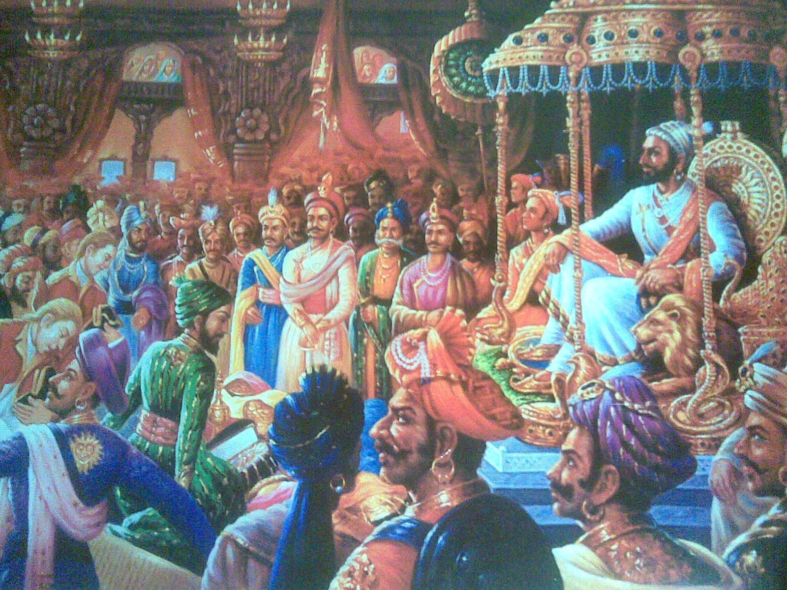 shivaji maharaj coronation