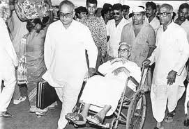 Balasahebji in wheelchair
