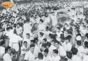 Shri Guruji's grand reception at New Delhi Station - 21st Aug 1949