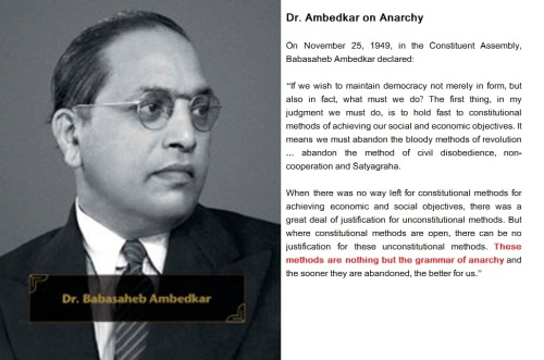 Dr.Ambedkar on Anarchy