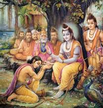 Sri Rama advising Bharata on duties of a ruler
