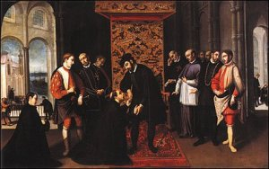 Francis Xavier requesting Pope John III to go to Goa