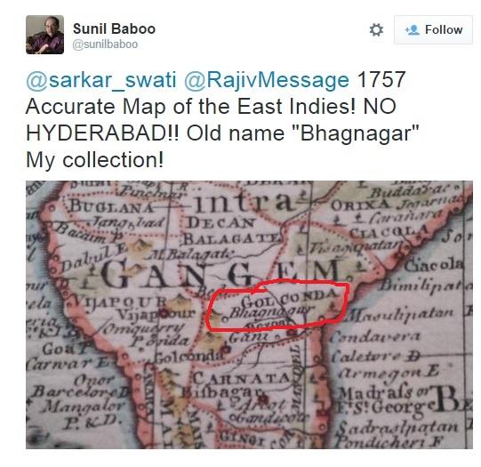 Bhagyanagar Map tweet