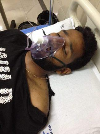 Susheel hospitalised
