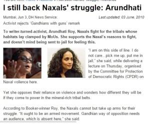Arundhati on Naxals