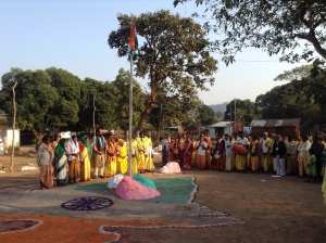 Bharat Mata Puja on 67th Republic day in Kandhamal