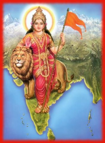Bharat Mata Photo without quote